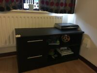 Black TV cabinet with two drawers ( Argos)