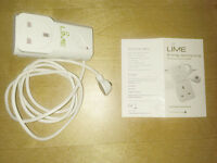 Lime Energy Saving Plug with IR Receiver 13A 240V Wireless Socket Remote Control
