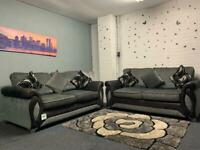 Grey & Black DFS Sofas delivery 🚚 sofa suite couch furniture