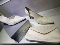 Size 6 wedding shoes & bag