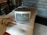 Old style tv with DVD player