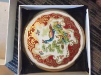 Stratton compact unused in original box with beautiful peacock design only £15