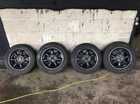 Drift wheels and tyres.
