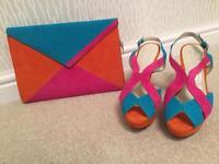 Suede shoes (UK 4) & Matching bag