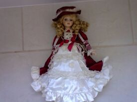Beautiful Victorian style doll on stand