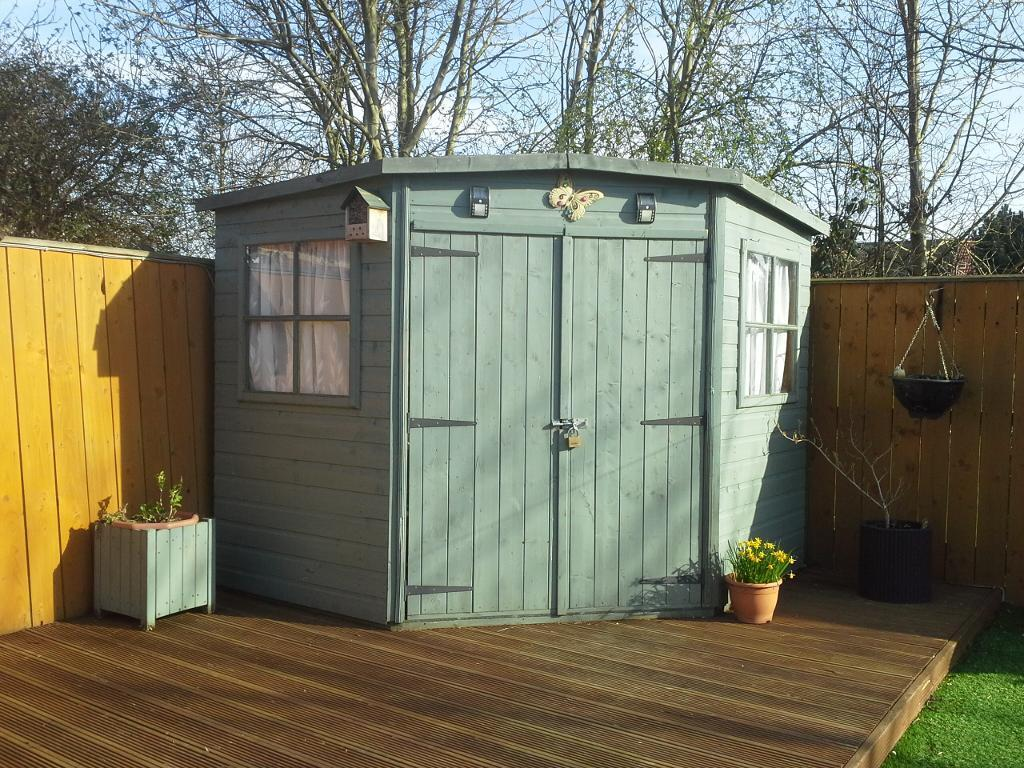 Garden Sheds Hull corner garden shed | in hull, east yorkshire | gumtree