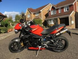 Triumph street triple 675 clean bike many extras may accept px