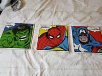 Superhero wall canvases