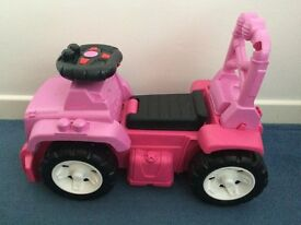 Toddlers push and ride on jeep - girls