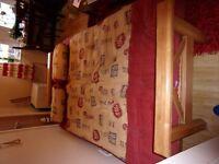 sturdy wooden futon
