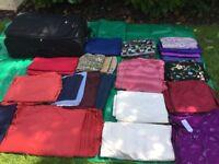 Fabrics - cottons silks and wool