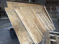JOB LOT OF CHIPBOARD. LARGE THICK PIECES OF CHIPBOARD