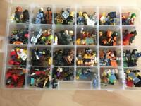 144 LEGO FIGURES + 100'S WEAPONS + CARRY DISPLAY CASES