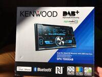 DAB Kenwood double din sized car radio. DPX-7000DAB. Hardly used!