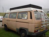 VW T25 T3 Campervan 1.9 watercooled petrol manual beige colored