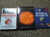 Astrology books X3 Stars and Planets + Epic Rivalry + Soviet and American Space Race + Our universe