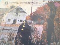 Assortment of vinyl records black sabbath and deep purple