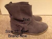 Size 12. Grey boots from Next. Brand new.