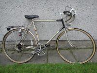 Raleigh Medale retro road bike, 27 inch wheels, 23 ½ inch frame, 10 gears, rear rack