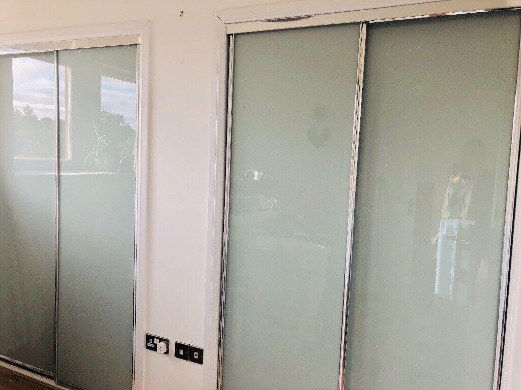 Opaque Glass Sliding Wardrobe Doors In Uddingston Glasgow Gumtree
