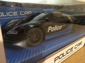 Remote Control Bugatti Veyron Police Toy Car Boys Gift Fun RC Flashing LED Lights NEW