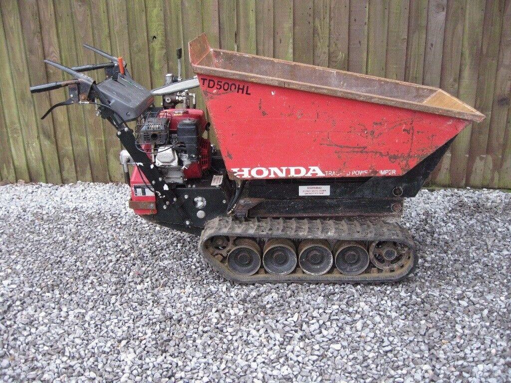 Honda TD 500 HL High Lift Tracked Dumper. 2015 Model.