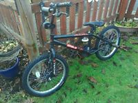 BOYS BMX. RODE ONCE. GREAT CONDITION. £50 ONO