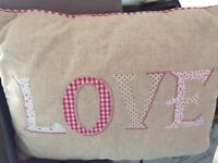 "Next appliqué ""love"" cushion"