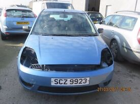 2003 FORD FIESTA ZETEC, 1.4 PETROL, BREAKING PARTS ONLY, POSTAGE AVAILABLE NATIONWIDE