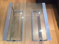 Modern Coffee table- silver/glass