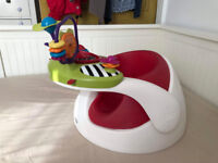 Mamas & Papas Baby Snug Seat and Activity Tray - Red. Excellent condition.