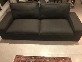 Three-seat IKEA sofa - Model: KIVIK - Cover: Hillared anthracite