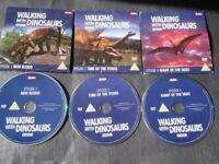 WALKING WITH DINASORS EPISODE 1,2,4 DVDS