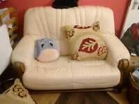 2+3 seater leather sofa