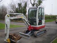 2007 Takeuchi TB016 Mini Digger £9500 No VAT