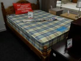 Wooden bed with mattress double - British Heart Foundation sco39426
