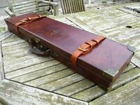 Oak & Leather Shotgun Case, Very High Quality, Fantastic Condition