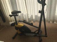 Exercise bike/cross trainer combo