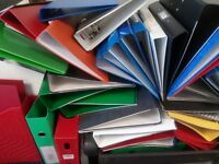 Over 150 folders and lever arch files - FREE TO COLLECT