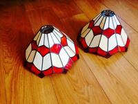 Lovely Tiffany style glass lampshades