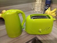 Kettle and Toaster matching lime green