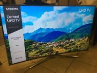 """Samsung 55"""" 4k curved LED 📺 HDR Apps Freesat Warranty Excellent Condition"""