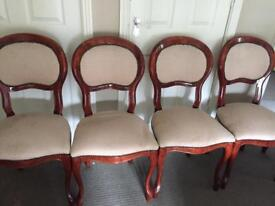 French style balloon back chairs 4