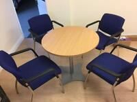 Conference/office table and 4 chairs
