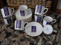 EXPRESSO COFFEE CUPS & SAUCERS: