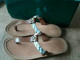 Handmade brand new leather sandals