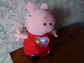 PEPPA PIG SOFT TOY - TALKS & LIGHTS UP