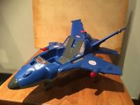 VGC RARE 1999 Fisher Price Mattel Rescue Heroes TALKING TECH JET (also available=7 Heroes figures).
