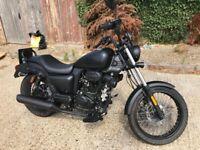 SINNIS HOODLUM EFI 125 (125cc) Black 2017 (67 plate) Bike Motorbike motorcycle