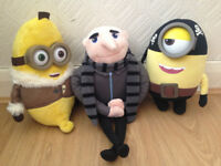Large Minion plush toys Grew, Pirate minion and Banana minion